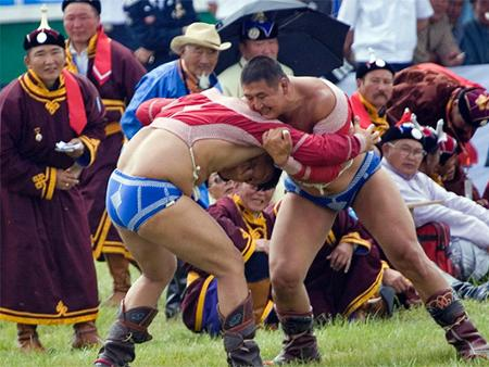 Le Lion National : champion de lutte du Naadam