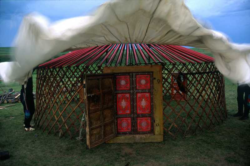 Porte Yourte Of La Yourte Mongole Voyage Mongolie