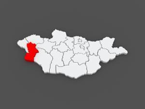 Carte de la province de Khovd