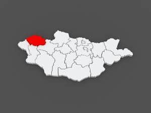 Carte de la province d'Uvs