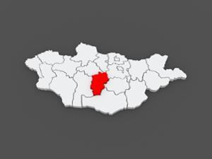 Carte de la province de l'Ovorkhangai