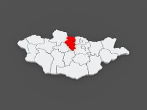 Carte de la province du Bulgan