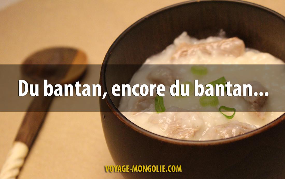 Le Bantan, le plat traditionnel pour les bébés en Mongolie