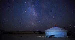 Ciel étoilé désert de Gobi