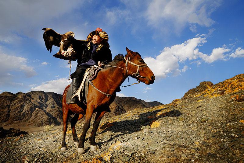 Chasseur Kazakh aigle