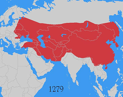 Carte Empire Mongol