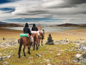 randonnee à cheval en Mongolie