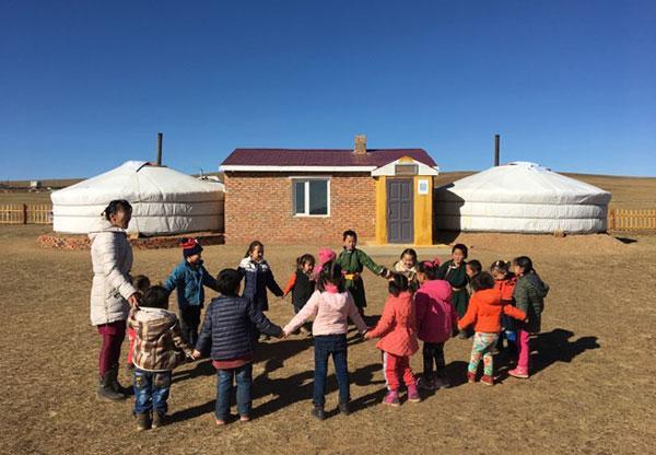 Freiwillige in der Mongolei